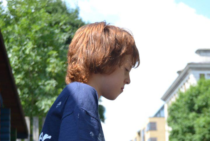 Child at Lumpy Hill