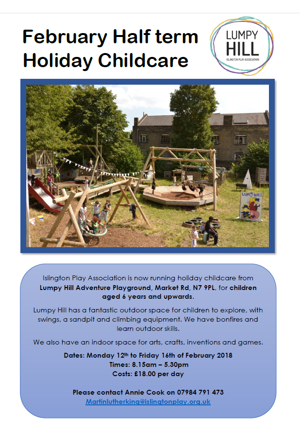 Lumpy Hill February Half Term Childcare
