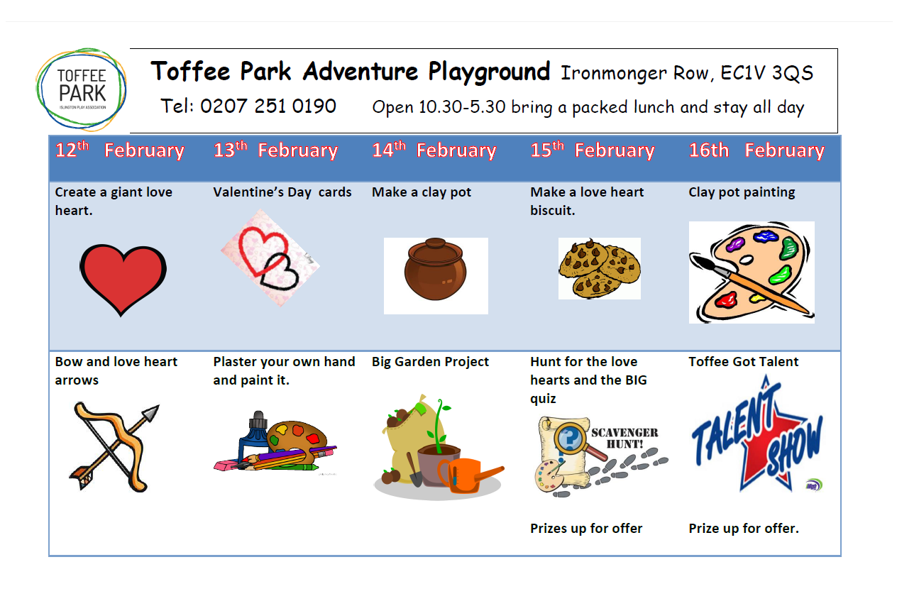 Toffee Park Adventure Playground February Half Term 2018