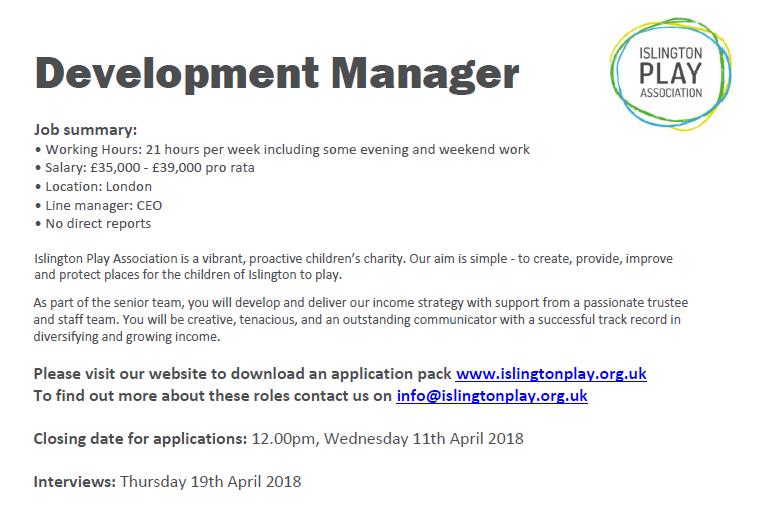 Development Manager job